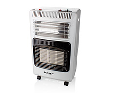 "Foldable Heater Electric & Gas Aluminium White 4200W ""Hibrido"""