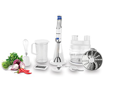 "Taurus Food Processor With Attachments Stainless Steel White 1.8L 800W ""Batedora 800"""