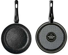 "Taurus Frying Pan Enamel Black 20cm ""Vital Stone"""
