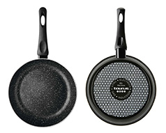 "Taurus Frying Pan Enamel Black 30cm ""Vital Stone"""