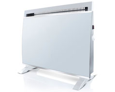 Taurus Heater Electric Glass White 2Heat Settings 1500W