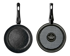 "Taurus Frying Pan Enamel Black 26cm ""Vital Stone"""