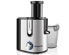 "Taurus Juice Extractor Stainless Steel Brushed 800W ""Liquafruits Pro"""