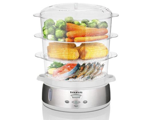 Electronic Food Steamer ~ L digital food steamer tier taurus